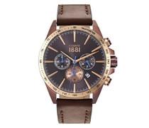 Herren-Armbanduhr CONERO Analog Quarz Leder CRA126SBZR12BR