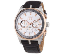 Herren-Armbanduhr VELIERO Analog Quarz Leder CRA089Y213G