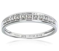 Damen-Ring 9 K 375 Weißgold Diamant 0,05 ct PR04668W-M