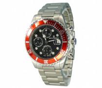 Herren-Armbanduhr XL Diver Chronograph Automatik Edelstahl 17571.6136