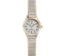 Damen-Armbanduhr Analog Quarz bicolor / mehrfarbig 622552