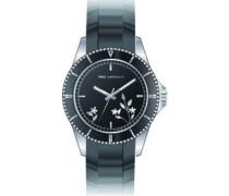 Damen-Armbanduhr Analog Kautschuk schwarz A0528RNPN