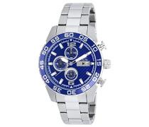 Herren-Armbanduhr Chronograph edelstahl Silber 21376