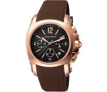 Herren-Armbanduhr Commandant Chronograph Quarz Kautschuk Swiss Made