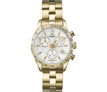 Damen-Armbanduhr Chronograph Quarz Edelstahl T2P058