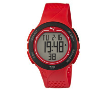 Puma Time Herren-Armbanduhr PU-Touch- red black Digital Quarz Kautschuk PU911211002