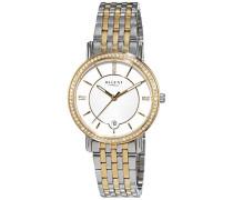 Regent Damen-Armbanduhr Analog Quarz Edelstahl beschichtet 12230639