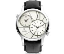 Herren-Armbanduhr XL Analog Leder
