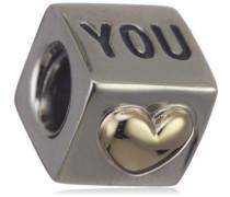 Pandora Damen-Bead  Sterling-Silber 925 Herzwürfel KASI 79200