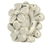 Damen-Bead-Zwischenelement Liebliche Gänseblümchen 925 Silber Emaille - 791495EN12