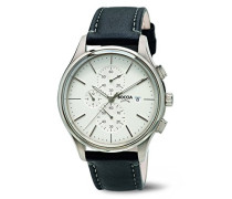 Boccia Herren-Armbanduhr Chronograph Quarz Leder 3756-01