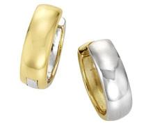 Damen-Creolen Gold Edition 375 Bicolor teilrhodiniert - 371310400