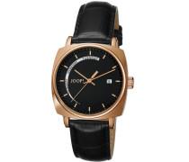 Herren-Armbanduhr Quarz Leder JP100521F03