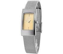 M&M Damen-Armbanduhr Analog Quarz Edelstahl M11406-122