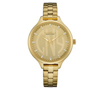 Caravelle New York Damen-Armbanduhr DRESS Analog Quarz Edelstahl beschichtet 44L206