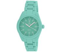 Spielzeug Armbanduhr Unisex Quarz Uhr mit Marine Zifferblatt Analog-Anzeige und Grün Rubber Strap 0.94.0027
