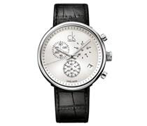Calvin Klein Herren-Armbanduhr XL substantial Chronograph Quarz Leder K2N281C6