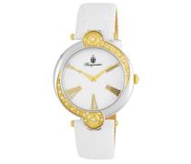 Armbanduhr für Damen mit Analog Anzeige, Quarz-Uhr und Lederarmband - Wasserdichte Damenuhr mit zeitlosem, schickem Design - klassische, elegante Uhr für Frauen - BM811-186 Garland