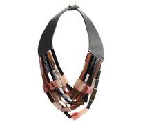 bunte Resin Stein Amethist Halskette 18, 22 cm