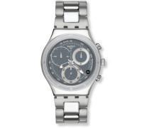 Swatch Herren-Armbanduhren Lifestyle Oblique End Grey YCS546G