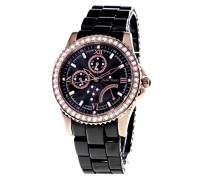 Damen-Armbanduhr Analog Quarz Premium Keramik Diamanten - STM15N4