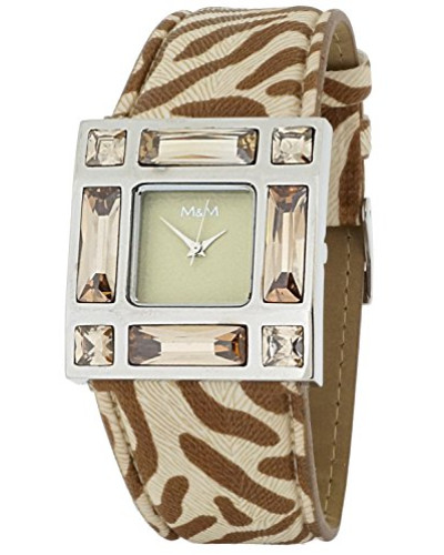 Damen-Armbanduhr Analog Quarz Kunstleder M11501-742