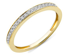 Damen-Ring 9 Karat (375) Gelbgold Diamant 54 (17.2)