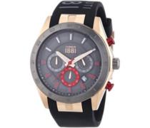 Cerruti 1881 Herren-Armbanduhr XL FORLI Analog Quarz Silikon CRA095P224G