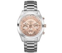 Caravelle New York Damen-Armbanduhr Chronograph Quarz Edelstahl 45L143