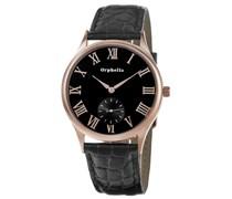 Orphelia Herren-Armbanduhr XL Analog Quarz Leder