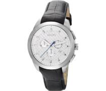 Herren-Armbanduhr XL Legend Chrono Swiss Made Chronograph Quarz Leder JP101071S05
