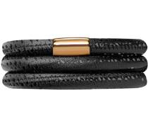 Damen-Armband JLo Reptil 3-reihig Edelstahl teilvergoldet Leder 63.0 cm - 1053-63
