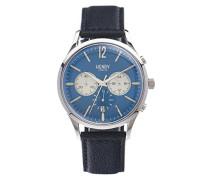 Unisex-Armbanduhr Knightsbridge Chronograph Quarz Leder HL41-CS-0039