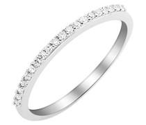 Damen-Ring 9 Karat (375) weißgold Diamant (0,1 ct-MKW9041R6 T56