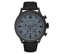Herren-Armbanduhr XL Chronograph Quarz Leder A19616G