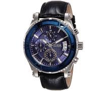 Herren-Armbanduhr Analog Quarz Leder W0673G4