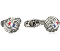 Jewelry Herren-Manschettenknöpfe Edelstahl Emaille silber - 2700695