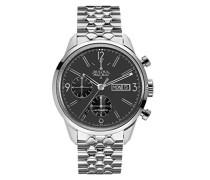 Herren-Armbanduhr Chronograph Automatik Edelstahl 63C119