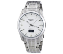 Regent Herren-Armbanduhr XL Analog - Digital Quarz Edelstahl 11030107