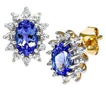 Damen-Ohrstecker 375 Diamant 0,05 ct BlauViolett Rundschliff PE01535Y/Tanz