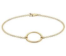 Damen-Armband Kreis Geo Trend Filigran Blogger Trend Ring vergoldet silber 925
