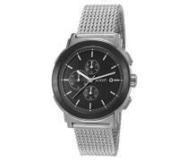 ! Herren-Armbanduhr TOM Chronograph Quarz Edelstahl JP101451007