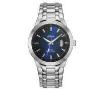 s.Oliver Herren-Armbanduhr XL Analog Quarz Edelstahl SO-2823-MQ