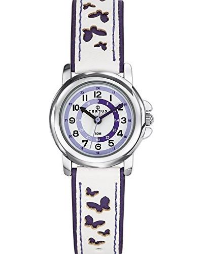 647589 Analoge Armbanduhr, Quarz, schwarzes Zifferblatt, mehrfarbiges Armband aus Kunststoff