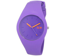 - ICE chamallow Purple - Lila Damenuhr mit Silikonarmband - 001151 (Medium)