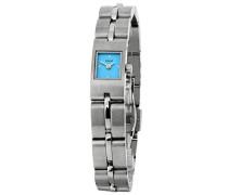 M&M Damen-Armbanduhr Analog Quarz Edelstahl M15452-127