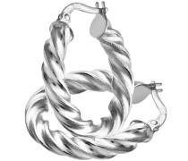 Damen-Halskette 9 Karat 375 Gelbgold Weißgold Diamantschliff 15 mm, gedreht, 0,3 cm RIL1403W