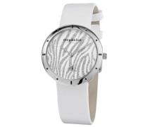 Damen-Armbanduhr XS Analog Quarz Leder