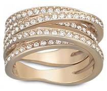 Damen-Ring Spiral Kristall weiß