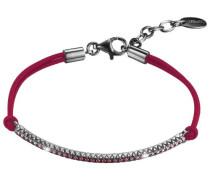 Damen Armband 925 Sterling Silber rhodiniert Kunststoff Zirkonia brilliance expression pink 17 cm pink ESBR91442C170